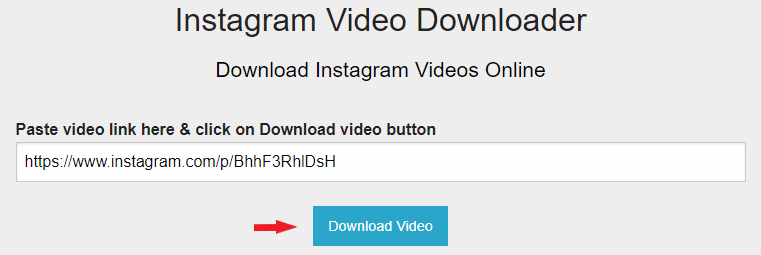 Download video từ Instagram